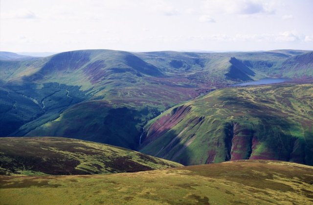 An example of productive habitat for foraging golden eagles in south Scotland, the Grey Mare's Tail. ©P&A Angus Macdonald/SNH