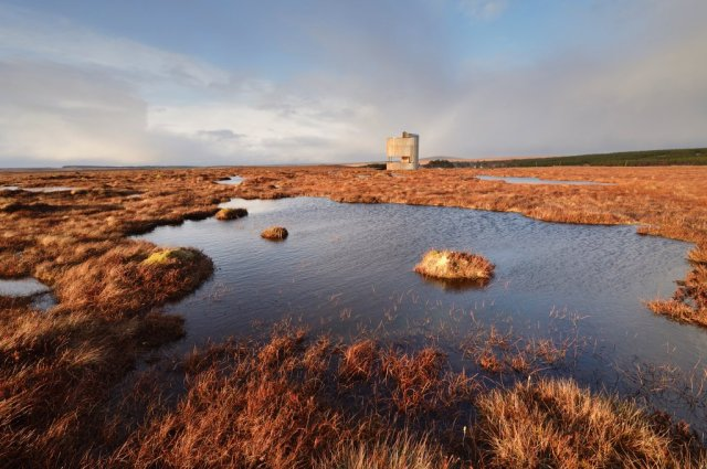 Dubh lochans on the blanket bog at Forsinard Flows National Nature Reserve. ©Lorne Gill/SNH