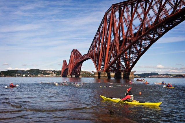 Kayakers under Forth Rail Bridge. ©beckyduncanphotographyltd/SNH