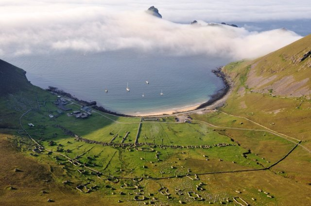 The village and bay from Conachair, Hirta, St Kilda. ©Lorne Gill/SNH