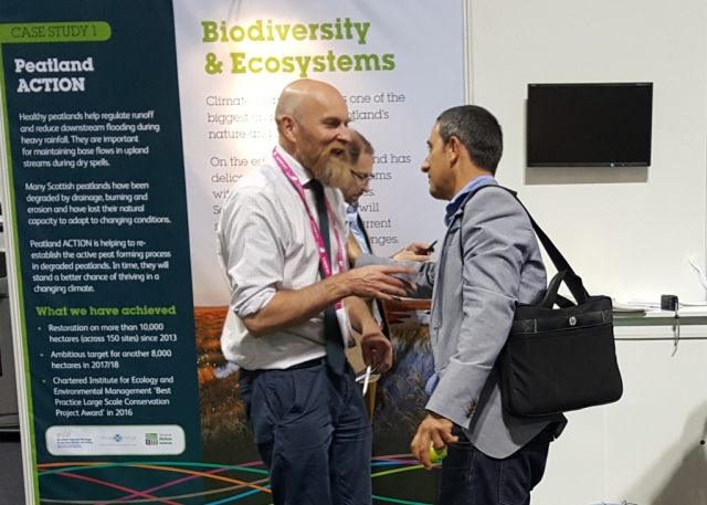 SNH's Peatland ACTION at Climate Ready Scotland showcase.