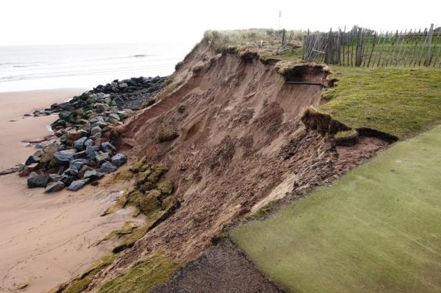 Climate change likely to be the reason for increased lengths and rates of coastal erosion in Scotland (Montrose dunes © Nick Everett)