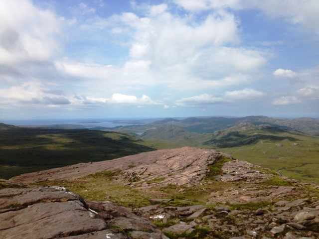 Looking north west from Beinn an Eòin to Loch Gairloch.