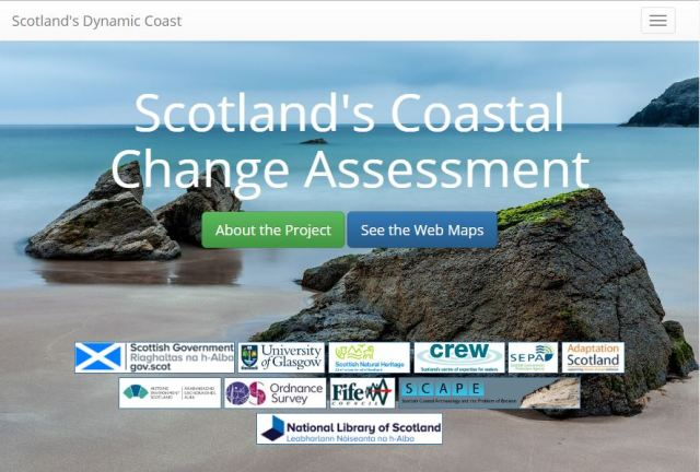 Scotland's Dynamic Coast website.