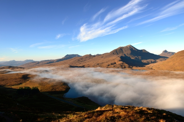 A temperature inversion at Knockan Crag NNR. ©Lorne Gill/SNH