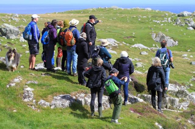"Enjoying one of Ben Hynish's ""Hiking Through History"" archaeology walks. These were run to tie in with the VisitScotland Year of History, Heritage and Archaeology 2017."