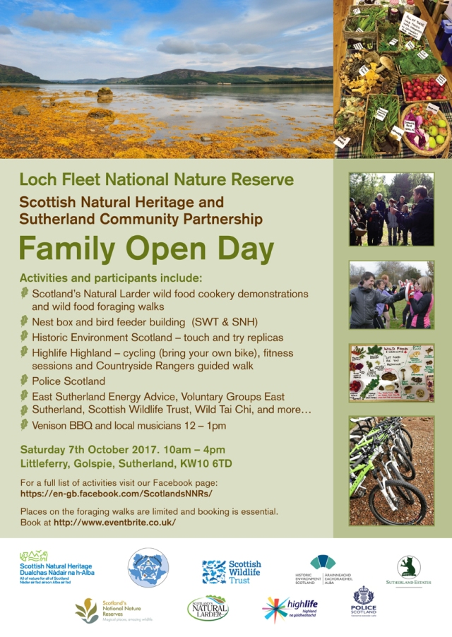 Loch Fleet NNR - Community Open Day Poster - A3 - 22 September 2017 (A2411763)