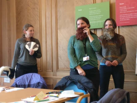 …while sporting newly adorned beards.