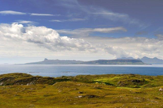 Eigg and Rum from Ru Arisaig, Lochaber. ©Lorne Gill/SNH