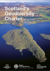 The front cover of the Charter shows the Highland Boundary Fault crossing Loch Lomond, creating a stark landscape contrast between the Highlands and Lowlands of Scotland. ©P&A Macdonald/SNH