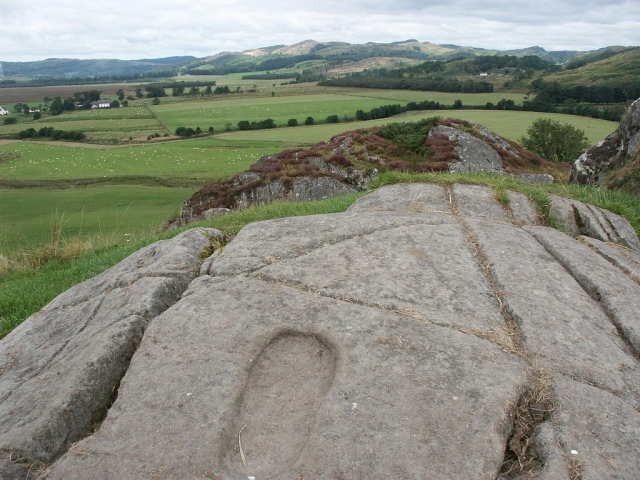 'Footprint' at Dunadd. © Simon Bramwell, Creative Commons