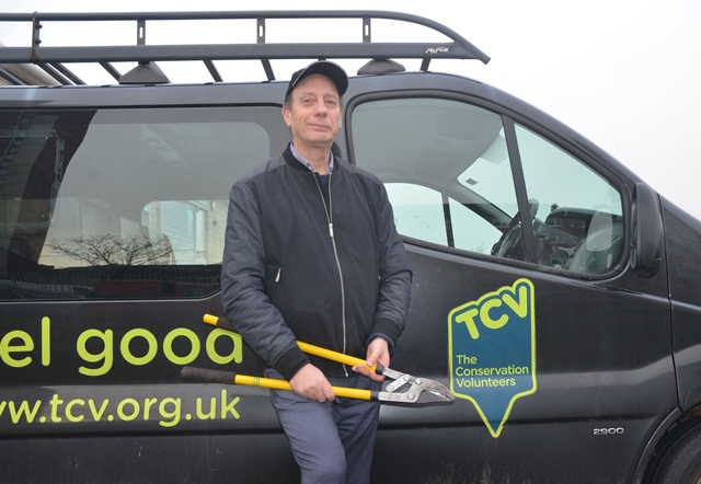 Alan beside the trusty TCV van.