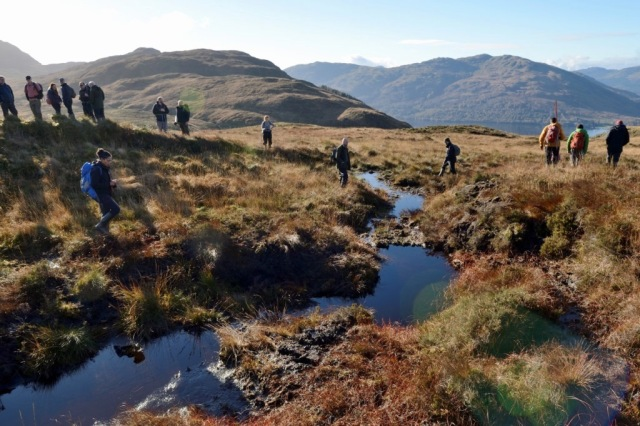 SNH and Scottish Water site visit in Loch Lomond to view Peatland Action restoration work. © Lorne Gill/SNH
