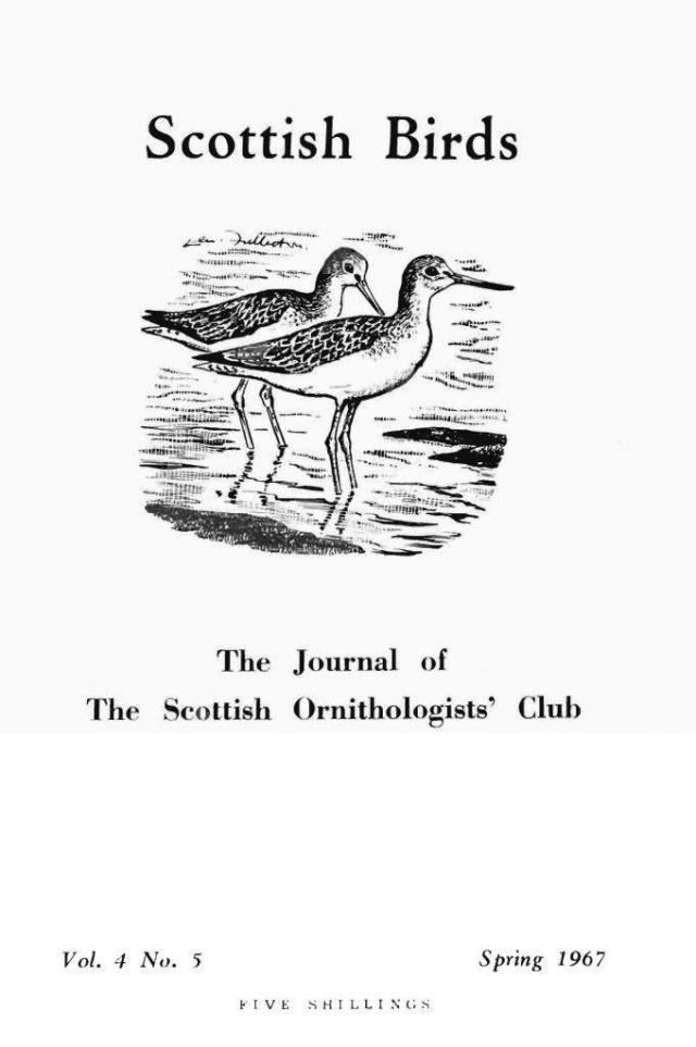 Cover of the Scottish Ornithologists Club magazine 1967.