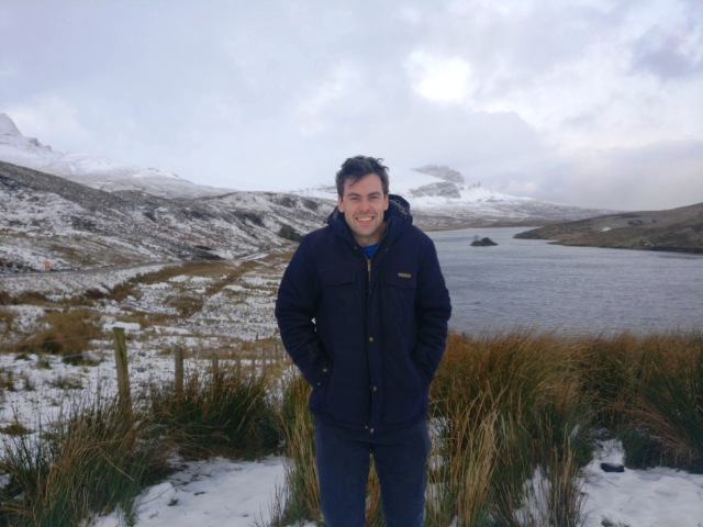 Tom during a trip to the beautiful Isle of Skye in the snow. © Tom McKenna/SNH