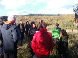 SNH beaver training day with beaver expert Roisin Campbell-Palmer in Beauly in October 2017. © Jenna Lane/SNH