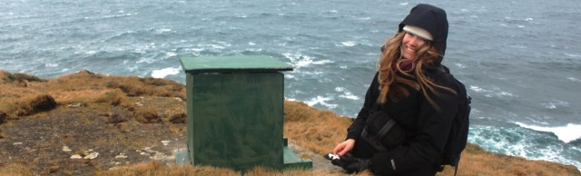 Deploying a camera box for my research project while at SNH. This was taken on the cliffs of Marwick Head in Orkney. © Alex Robbins/SNH