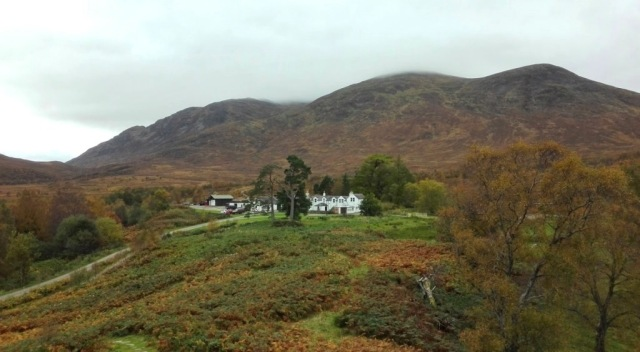 On a clear day, you can see Creag Meagaidh's main building and its array of out-houses nestled on a remnant outwash plain of the Ilt Dubh. © Tay Davies/SNH