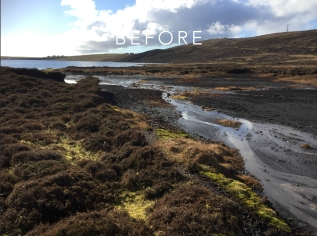 Sandy Loch Peatland ACTION restoration project: before work started. © Scottish Water - Sustainable Land Management Team