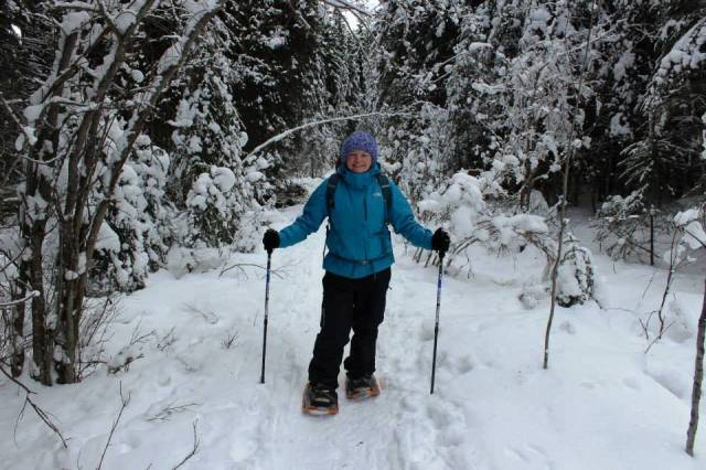 Snowshoeing in Banff National Park.