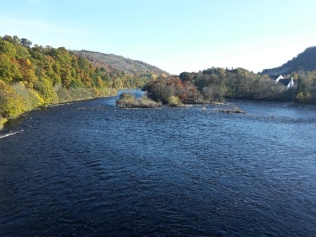The Tay at Dunkeld vs River Fowey, my local river.