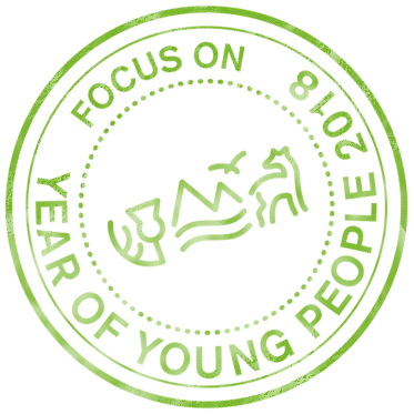 Year of Young People 2018 stamp