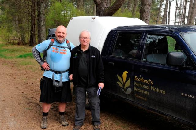 Chris with Tom Cunningham, Tentsmuir NNR's Reserve Manger. ©Lorne Gill/SNH