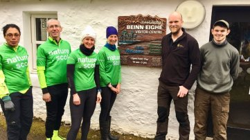 Declaring the Beinn Eighe NNR Visitor Centre open for another busy season.