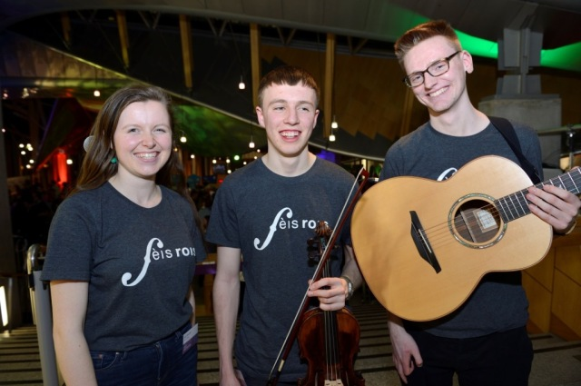 Young musicians of the Fèis Rois National Ceilidh Trail played for the duration of the event. © Lorne Gill/SNH