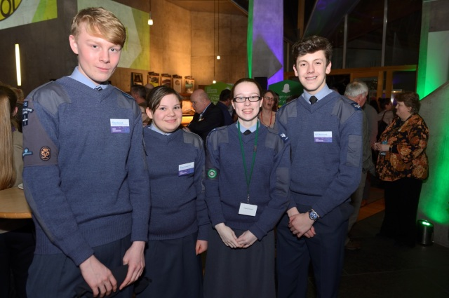 The Reception was attended by uniformed groups including the 1756 (Broxburn) Squadron Air Cadets (pictured), Scouts and Guides, among others. © Lorne Gill/SNH