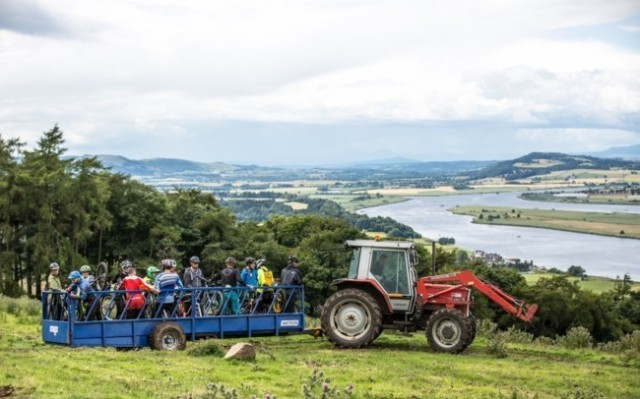 Views from the top of Parkhill farm where cyclists start the race. (copyright Trevor Worsey)