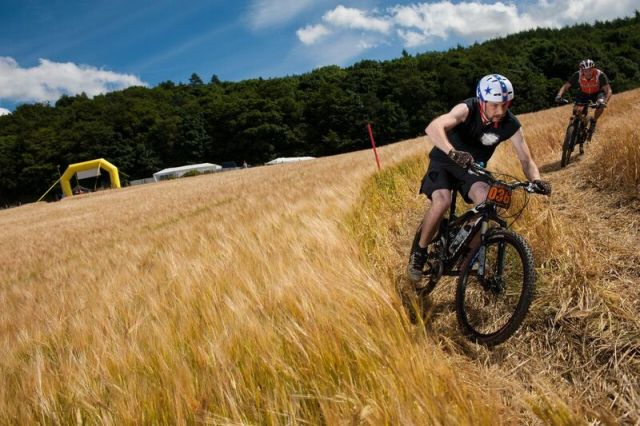 'Crazy Crops' race at the Mountain Bike Festival hosted on the farm (copyright Roger Howison)