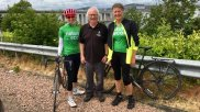 Tom, accompanying rider Elspeth Christie and Francesca over the Tay