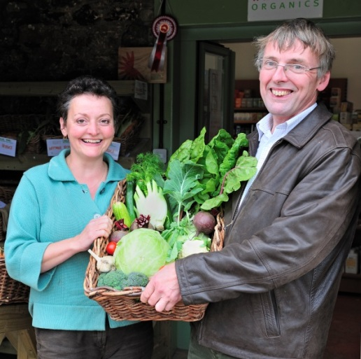 Heather Anderson and Pete Ritchie, owners of Whitmuir Organic Farm ©SNH