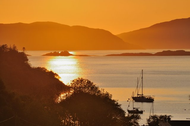 The view west over the Sound of Jura from Crinan. Argyll. ©Lorne Gill.