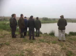 Farmers were able to see examples of agri-environment approaches to farming, such as pond creation. (c)Alison Shepherd