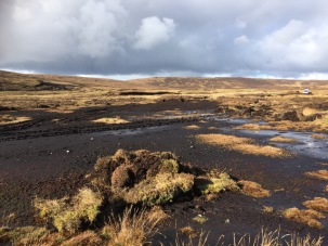 Peat surface devoid of vegetation making it open to erosion. ©Scottish Water, Sustainable Land Management (SLM)Team