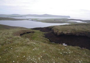 Peat hag susceptible to wind and rain erosion. ©Scottish Water, Sustainable Land Management (SLM)Team