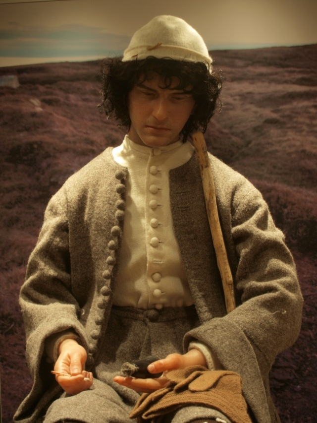 Reconstruction of Gunnister Man at Shetland Museum and Archives. Photo: Shetland Museum and Archives.