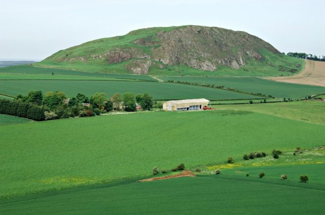 Traprain Law SSSI, East Lothian is an island of species rich grassland surrounded by intensive agriculture. (c) Lorne Gill/SNH