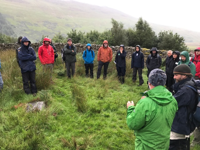 Hearing about Carrifran's beginnings from Project Officer, Hugh Chalmers. (c)Lynne Clark