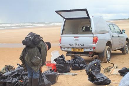 Forvie volunteer Richard Woods_with vehicle