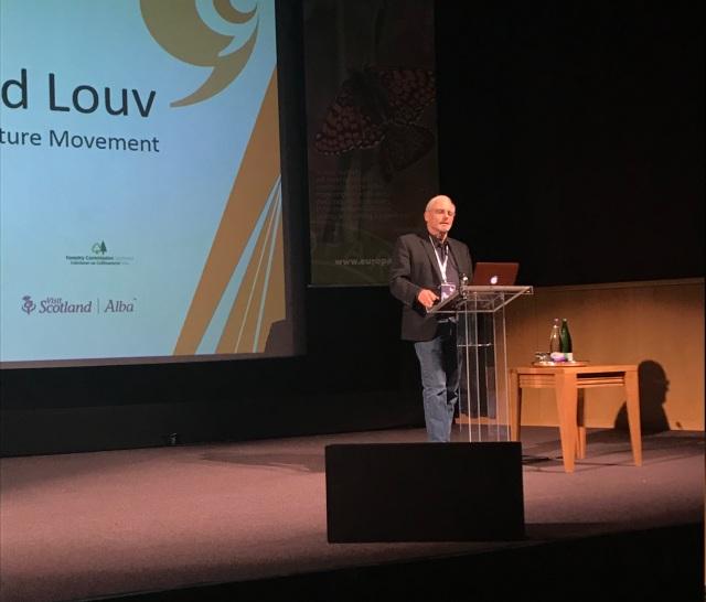 Richard Louv speaking at the EUROPARC 2018 Conference | ©Kirstin McEwan/Scottish Natural Heritage