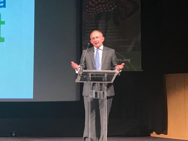 Mike Cantlay speaking at EUROPARC2018 | ©Kirstin McEwan / Scottish Natural Heritage