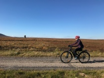 #Cycle for Nature, passing by the Flows Lookout on Forsinard Flows NNR (on electric bike). 101018