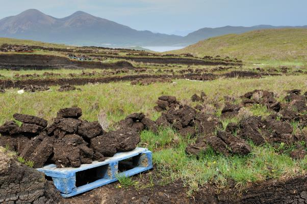 Peat cutting at Tobar Sron na Glaodhaich, well of the hill of the crying, Drinan, Isle of Skye, June 2015.