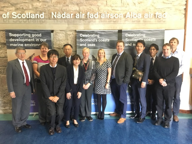 SNH hosted a visit from Japense delegates after being contacted by the Japanese Government.