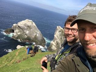 Fergus with colleague Brydon ( Liam and Raymond descending), © Brydon Thomason