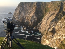 Filming gannets at Hermaness NNR, © Maramedia