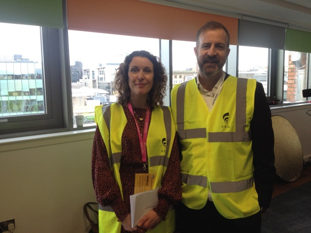 Ivan Clark, Scottish Natural Heritage Placemaking Team Manager and Lorna Wilson (SFHA) at the Innovation Factory
